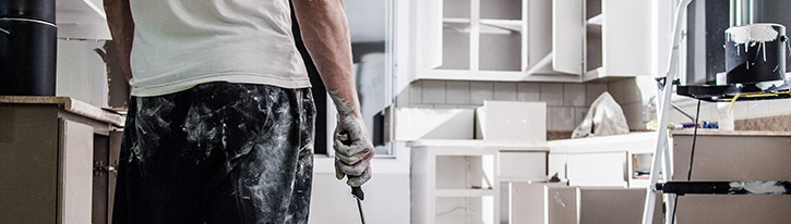 schilderwerk keuken in Halen