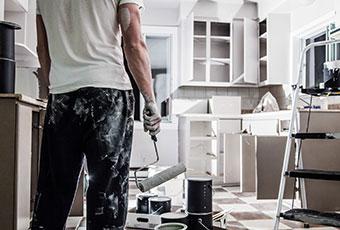 schilderwerk aan de keuken Antwerpen